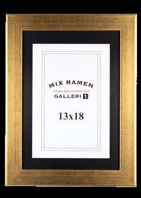 Träram Mixramen 34 guld 13x18 cm