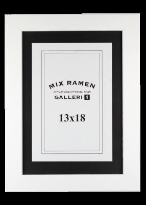 Träram Mixramen 34 vit 13x18 cm