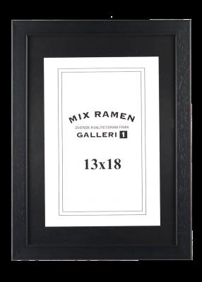 Träram Mixramen 2 svart 13x18 cm