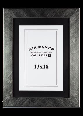 Träram Mixramen 6 borstat silver 13x18 cm