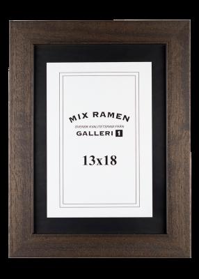 Träram Mixramen 6 brun 13x18 cm