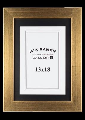 Träram Mixramen 6 guld 13x18 cm
