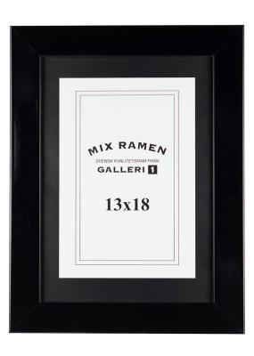 Träram Mixramen 6 högblank svart 13x18 cm